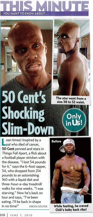50 Cent Loses 50lbs For New Movie